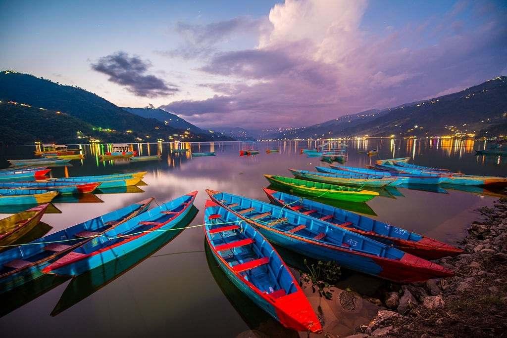 Reflection of Mountains in Phewa Lake