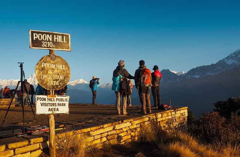 Poon Hill Station of Nepal