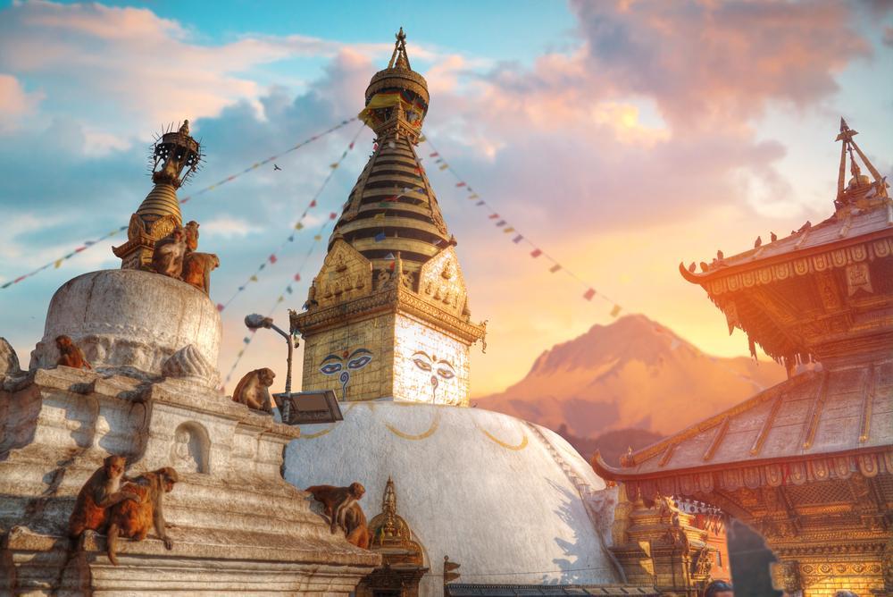 Famous Monkey Temple in Nepal: Swayambhunath